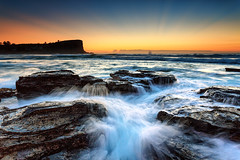 Avalon flow (Luke Tscharke) Tags: ocean morning sea sky sun seascape beach water sunrise landscape geotagged flow movement rocks action rays avalon headland geo:lat=3363724570075816 geo:lon=15133229365829698