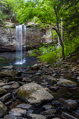Cherokee Spring (John Cothron) Tags: longexposure tree water rock creek 35mm canon river georgia landscape morninglight waterfall spring sandstone stream scenic flowing freshwater shale talus risingfawn waterfall1 dadecounty cloudlandcanyonstatepark danielcreek johncothron 5dmkii cothronphotography cherokeefalls zeissdistagont352ze johncothron img09861120414