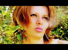 smoke (Harlory) Tags: portrait woman green nature girl eyes nikon smoke lips romania blonde coolpix p100 slatina