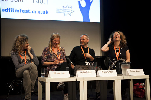 Al Morrow, Helle Faber, Peter Engel and Emma Davie at the Danish Documentary Focus Event