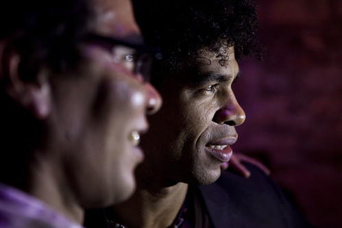 Carlos Acosta and guests at the Day of the Flowers afterparty at The Caves