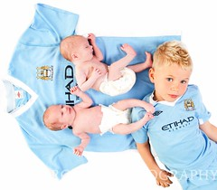 Brothers (DianeRocks Thanks a Million and a half views :-)) Tags: blue boys twins brothers handsome shirts fans nappies bluemoon newborns mancity 3weeksoldprem