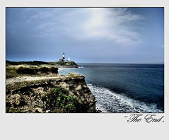 -The End. (jhony_S) Tags: ocean life county cliff lighthouse newyork storm mountains suffolk waves longisland oceancliff