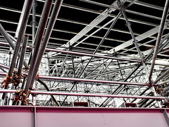 scaffold (Harry Halibut) Tags: scaffolding steel girder allrightsreserved anglesanglesangles colourbysoftwarelaziness 2012andrewpettigrew