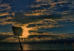 Solar energy (Wim Koopman) Tags: sunset sky sun lake holland water netherlands dutch clouds reflections photography solar photo energy panel stock nederland surface pole burst ijsselmeer 4s stockphoto iphone stockphotography ketelmeer wpk ijsselmeerdijk