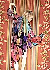 Rainbow Spiderweb Crochet Dreamcoat With Pixie Hood (babukatorium) Tags: pink blue red orange black color green art net wool fashion yellow dreadlocks circle sweater rainbow colorful purple recycled handmade turquoise teal oneofakind web coat crochet moda spiderweb violet style used fairy blonde gradient hexagon hood hippie dread psychedelic dreads arcobaleno rasta cardigan bohemian multicolor whimsical extensions darkblue fakehair haken fakedreads häkeln crochê ganchillo fuxia uncinetto biondi yarnhair fattoamano woolhair capellifinti yarndreads かぎ針編み dreadextension tığişi horgolt uvgreen wooldread woolrovingdreads fakedread babukatorium