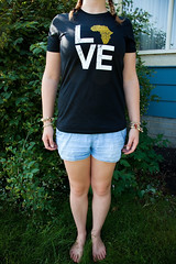 "Day 179: ""LOVE AFRICA"" (FallingLeavesPhotography) Tags: africa camp portrait woman canada love girl kids portraits self outside kid edmonton july tshirt here alberta portraiture shorts 365 camps arrived finally exciting 2012 day179 366 fallingleavesphotography"