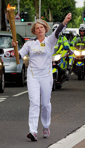Olympic torch in Woolwich