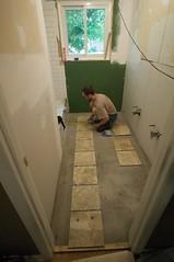 _DSC0148 (hipengr) Tags: beach subway tile bathroom mud sandy redo folkstone thinset