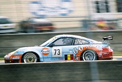 Ice Pol Racing Team Porsche 911 GT3-RSR GT2 (Moments of Yesterday) Tags: france film 35mm 2006 mans le hours 24 amateur francais sarthe