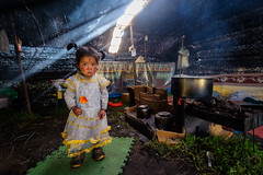 Little nomad queen (nico3d) Tags: china sunset horse girl kid tent tibet dirt stove nomad tibetan kham grassland rider tibetanplateau