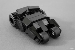Lego Batman mini Tumbler  Reloaded (_Tiler) Tags: car lego mini batman vehicle dccomics batmobile batmanbegins moc tumbler thedarkknight miniscale thedarkknightrises tdkr
