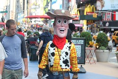 """They were filming """"Midnight Cowboy II"""" in Times Square....here is the new Joe Buck (Hazboy) Tags: new york city nyc ny apple square costume big cowboy manhattan joe midtown midnight times buck hazboy hazboy1"""