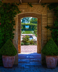 Gateway to the Garden (Ian Aberle) Tags: wedding usa wisconsin madison rosegarden hdr 2012 lightroom olbrichbotanicalgardens 3xp canonef28135mmf3556isusm photomatix tonemapped 2ev tthdr realistichdr madison365 detailsenhancer geo:state=wisconsin exif:focal_length=47mm exif:iso_speed=160 canoneos7d geo:countrys=usa exif:lens=ef28135mmf3556isusm camera:model=canoneos7d exif:model=canoneos7d ianaberle exif:aperture=40 alexisandmikel geo:lat=43093083333333 geo:city=madison geo:lon=89334271666667