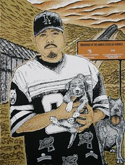 Cholo by Oscar Moya (Serie Project XVI | Latino Art Screen Print Studio) (serieproject) Tags: art print screenprint artist border screen pitbull silkscreen latino latinoart hispanic cholo serigraph hispanicart samcoronado serieproject serieprint oscarmoya