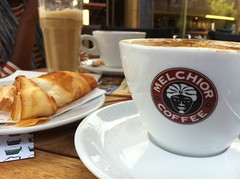 Melchor Coffee (khawkins04) Tags: coffee cafe croissant cappuchino crossant melchorcoffee
