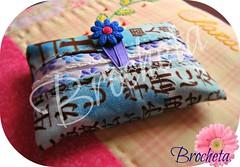 Guardapañuelos Letras Japonesas (Brocheta) Tags: azul flor patchwork letras japonesas tela pañuelos guardapañuelos