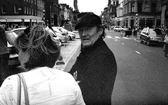 "David Hayman,  ""Six and a Tanner"" (Sibokk) Tags: street camera uk trip urban blackandwhite bw white david black film 35mm photography mono edinburgh streetphotography olympus hayman streetphoto tanner six 35 ilford streetview hp5plus streetshooter davidhayman believeinfilm sixandatanner"