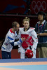 Paul Green gives Jade Jones some final advice - London 2012 (Chris N Parsons) Tags: london canon jones team do jade 7d gb olympics tae tkd kwon 2012 paulgreen teamgb jadejones