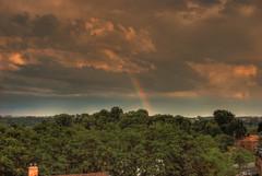 Evening Rainbow (thespencerphoto) Tags: rain weather skyline rainbow day pittsburgh cloudy pennsylvania pa hdr mygearandme me2youphotographylevel1