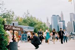 Wedding at Brooklyn Bridge Park (ohnataly) Tags: newyork film grainy drugstorefilm