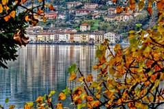 AUTUMN COLORS AND REFLECTIONS (elvetino and dide) Tags: autumn schweiz switzerland tessin suisse herbst svizzera autunno riflessi spiegelung lugano morcote lagodilugano ceresio reflecitions cantonticino lagoceresio kantontessin brusinoarsizio southernswitzerland cantondutessin blinkagain rememberthatmomentlevel1 me2youphotographylevel1