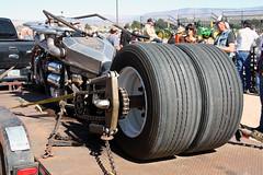 Humongous motorcycle (twm1340) Tags: show arizona tractor giant diesel az turbo cottonwood motorcycle huge custom cummins 2014 flywheelers
