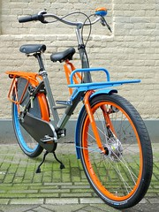 WorkCycles Fr8 Uni 7022-2004-5015 1 (@WorkCycles) Tags: blue orange dutch amsterdam bike bicycle brooklyn grey kid child transport special custom carrier racks fiets workbike fr8 stadsfiets transportfiets moederfiets workcycles papafiets