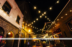 Night lights in Portland, OR (Naomi Rahim (thanks for 2 million hits)) Tags: street city travel usa night oregon america buildings portland lights alley nikon or streetphotography pacificnorthwest pdx laneway fairylights pnw alfresco 2016 travelphotography 1116mm nikond7000