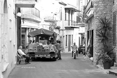 Street shopping (msiapan) Tags: monochrome village cyprus grocery buying lefkara κύπροσ πλανόδιοσ λεύκαρα