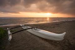 Maui Sunset (digital_AM) Tags: ocean sunset beach water sailboat relax hawaii boat outdoor maui calm