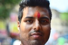 Mukesh [Stranger # 14 / 100] (s) Tags: portrait india stranger varanasi kolkata bengal streetshot basant westbengal mukesh kalighat kalitemple 100strangers