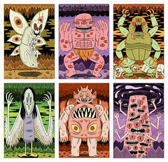 The Guide to Hell - Demons 2 (Jack Teagle) Tags: death drawing hell madness posters monsters beasts demons demonology