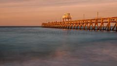 Pier in Luc sur mer (alexandercox2) Tags: sunset mer france long exposure zee bleu sur luc normandie frankrijk lange sluitertijd