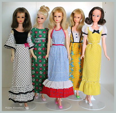 Francie group (Hiljan Kuvaamo) Tags: vintagefrancie barbiefrancie