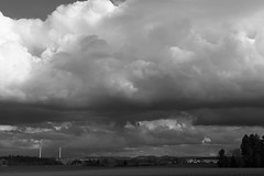 Le petit village sous les nuages (winkler.roger) Tags: bw clouds germany landscape blackwhite blackforest winzeln