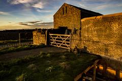 The barn at the BBC Parsonage on Penistone Hill (jackharrybill) Tags: bbc bronte westyorkshire filmset haworth parsonage bronteparsonage towalkinvisible