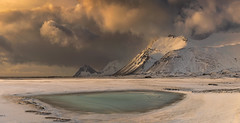 The Blue Pool (Ray Jennings AU) Tags: panorama mountain snow ice pool clouds iceland stormclouds bluepool hofn nikond810 nikon70200f4
