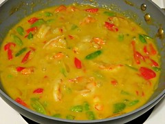 Shrimp Green Thai Curry (knightbefore_99) Tags: red fish hot green home yellow pepper milk coconut sauce cook tasty shrimp curry thai garlic onion spicy