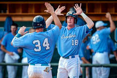 Carolina Baseball '11 (R24KBerg Photos) Tags: sports canon nc athletics baseball northcarolina celebration carolina heels highfive ncaa score chapelhill unc tarheels uncch uncchapelhill 2011 carolinablue atlanticcoastconference boshamerstadium