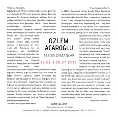 Ses'sis Zamanlar_Gama Gallery_Beyoğlu (Ozlem Acaroglu(www.ozlemacaroglu.com)) Tags: sessiszamanlar özlemacaroğlu nd10stop nd82mm nd1000x neutraldensityfilter leefilter leebigstopper