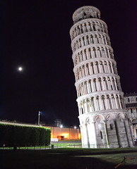 Leaning Tower of Pisa 1 (chriswalts) Tags: travel sunset italy streets tower night pisa leaning