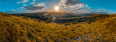 Panorama Garrigue (Illon Pictures) Tags: outside outdoor nature montagne mountains sun sunrays rays sky cloud clouds ciel nuages garrigue