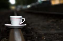 coffee, The power to do more. (jimmycaiman) Tags: blue food cup coffee field table chocolate pastel beverage indoor spoon pole latte cappuccino depth kva jdlo okolda npoj tabulka modr hloubka lek lce kryt