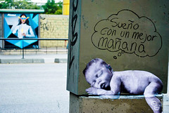 Sueo (D11 Urbano) Tags: boy art blancoynegro poster arte venezuela caracas urbano nio lucha sueo venezolano arteurbano d11 streetartvenezuela artvenezuela d11streetart arteurbanovenezuela d11art d11urbano