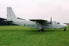 G-AXZK BN2A 153 X3HH Sep-02 (K West1) Tags: 153 sep02 bn2a gaxzk x3hh