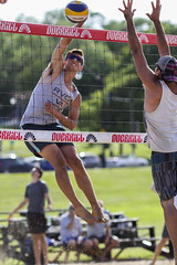 Getting around the block (Danny VB) Tags: summer canada man june canon photography eos photo jumping quebec action montreal beachvolleyball 7d spike volleyball block ef135mmf2lusm gettingaroundtheblock