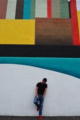 'Joe Vitale' ii. (miranda.valenti12) Tags: portrait art geometric standing painting landscape downtown posing joe geometrical leaning easton vitale