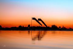Thank You Nature (Antony, Jony) Tags: sunset sky orange sun lake sol nature sunrise canon cores lago paint shadows natureza laranja cu pound sombras alvorada amanhecer pintura anoitecer biruta escurecer