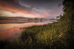 River Lochy (Roksoff) Tags: trees sunset summer mist water grass river reeds landscape serene tranquil fortwilliam lochaber lochlinnhe leefilters riverlochy nikond810 1635mmf4